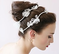 Women Lace/Rhinestone Headbands/Flowers/Wreaths With Wedding/Party Headpiece By Hand
