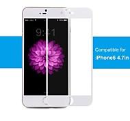 100% ige Abdeckung, Kante an Kante Schutz, Pro + Premium Hartglas Displayschutzfolie für iphone6 4.7inch weiß