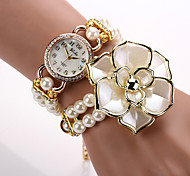 Watches Women Quartz Watch Relogio Feminino Bracelet 2015 Women Designer Brand Luxury Wristwatch Pearl Rose Flower
