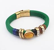 Women's Ethnic Noble Oval Bead Rhinestone Wrist Chain Bracelets