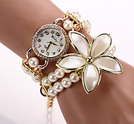 Relogios Femininos  Quartz Watch Wristwatch Pearl Luxury Brand Fashion Women Designer Brand Rose Flower New Fashion