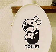 Multifunction PVC Decorative Toilet Stickers