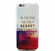 à la fin, nous ne regrettons les chances que nous n'a pas pris modèle ultra mince souple TPU cas de retour de la couverture par l'iPhone 6 / 6s