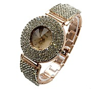 Women's Bracelet Watch Quartz Analog Sparkle Round Rose Gold Full Diamonds