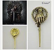 eruner® europeu e americano canção popular de gelo e fogo game of thrones mãos do rei broche