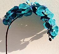 "37"" Long Fabric Butterfly Ochird Set of 3 Blue Color"