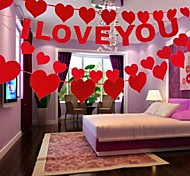 Party's I LOVE YOU and Heart Decoration Garland (Set of 4)
