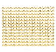 1PC 3D Nail Art Stickers Nail Wraps Nail Decals Gold Swallow Gird Nail Polish Decorations