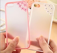 Meteor Shower Flower Pattern Metal Jewelry TPU Case for iPhone 6 Plus(Assorted Color)