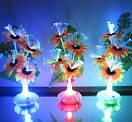 Optical Fiber Flowers Colorful Sun Vase LED Night Light