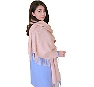 Women's Solid Color Twill Knitted Warm Scarves