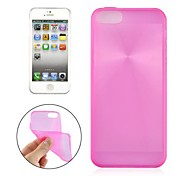 Angibabe 0.3mm Ultra-thin TPU CD Pattern Case Cover for iPhone 5 (Assorted Color)