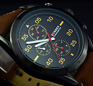 Men's Sport Military Watch Quartz Analog Water Resistant Sub-dial for Deco(Assorted Color)
