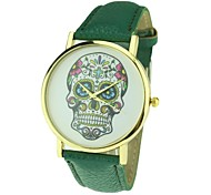 Women's Dress Skull Punk Style Quartz Analog Watch(Assorted Colors)