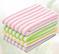 toalha multifuncional stripe forma fibra (cor aleatória) (30 * 30cm)