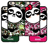 The Original Design of Panda Pattern TPU Soft Case Fits The Silicone Mobile Phone Shell of IPhone 6(Assorted Color)