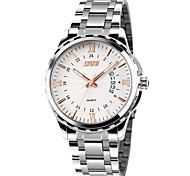 SKMEI® Men's Dress Watch Japanese Quartz Calendar/Water Resistant Stainless Steel Wristwatch
