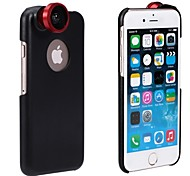 Apexel 180° Fish Eye Lens Fisheye Camera Lens for iPhone 6 with Back Case Cover (Assorted Color)