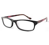 [lentes libres] acetato rectángulo lleno-borde anteojos recetados clásico