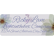 Personalized Product Labels / Address Labels Gray Flower Pattern of Film Paper
