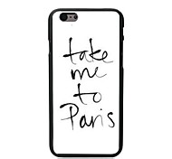 Take Me To Pans Design Hard Case for iPhone 6 Plus