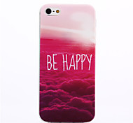 iPhone 5/5S iPhone - Per retro - per Design/Transparente/Innovativa/Ultra sottile/Metropoli/Frasi famose ( Multicolore , TPU )