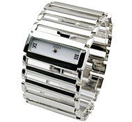 Women's Bracelet Watch Quartz Analog Vintage Rectangle Dial Wide Band Gold/Silver