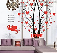 Angel Cupid Love Tree Fashion Background Wall Stickers