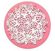 Small Round Flower Lace Fondant Cake Molds
