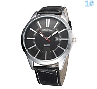 Men's Women's Unisex Dress Watch Quartz Analog Calendar/Water Resistant Simply Big Dial Black/Brown