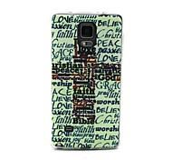Christian Word Art Cross Pattern 0.6mm Ultra-Thin Case for Samsung Galaxy Note 4