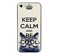 Keep Calm and Be Cool Design Hard Case for iPhone 5/5S