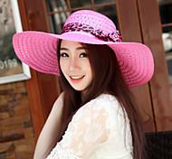 Women's Fashion Leisure Casual Summer Straw Floppy Hat