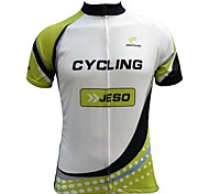 Jesocycling® Men's Breathable Polyester Fabric Short Sleeve Cycling Jersey
