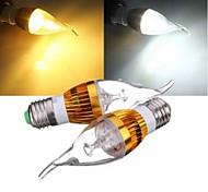 E27 3W 300LM 3000-3500K Warm White/6000K*6500K White Light Golden Shell LED Candle Lamp Bulb (AC 220-240 V)