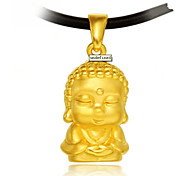 Sweet  (Buddha) As Picture Silver Plated Pendant Necklace(As Picture) (1 Pc)