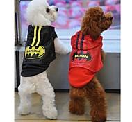 Red/Black Cotton Batman Vest Cloak Rain Coat For Dogs/Pets