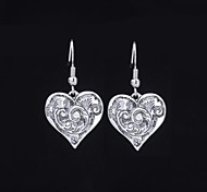 Lovely Alloy Heart shaped Drop Earrings