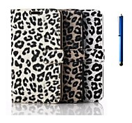 5.1 Inch Leopard Pattern PU Wallet Leather Case with Pen for Samsung GALAXY S6