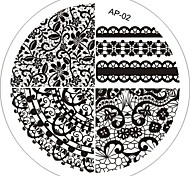 Nail Art Stamp Stamping Image Template Plate AP Series NO.2