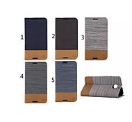 Для Кейс для Motorola Бумажник для карт / со стендом / Флип Кейс для Чехол Кейс для Полосы / волосы Твердый Искусственная кожа Motorola