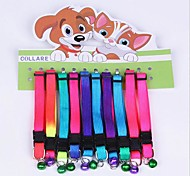 Colour The Cat and Dog Collars With Bells(Random Color)