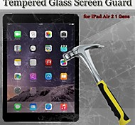 2in1 9H Hardness 2.5D Round Edge ExplosionProof Tempered Glass Screen Protector for iPad Air 2 / 1 Gen