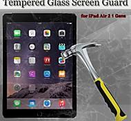 9h 2en1 dureza 2.5d borde redondo protector de pantalla de cristal a prueba de explosión templado para el aire del ipad 2/1 gen