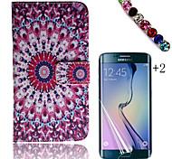 Para Soporte de Coche / Cartera / con Soporte / Flip / Diseños Funda Cuerpo Entero Funda Flor Dura Cuero Sintético Samsung Trend 3