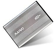 "MAIWO 2.5"" USB 2.0 SATA External Hard Drive HDD Enclosure-Silver K2501AU2S"