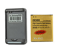 YI-YI™ Rechargeable 3030mAh 3.7V Replacement Battery with US Plug Battery Charger for Samsung Galaxy S3 I9300