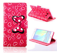 Bowknot Pattern PU Leather Case with Stand for Samsung Galaxy A7