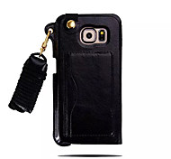 Lanyard Card PU Leather Case with Kickstand for Samsung Galaxy S6 (Assorted Colors)
