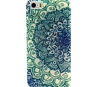 Green Flowers Pattern TPU Material Soft Phone Case for iPhone 5/5S